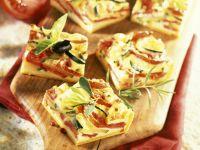 Zucchini Tart Squares recipe