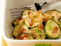 Zucchini with Sesame Seeds and Bacon recipe