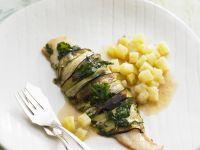 Zucchini-Wrapped Catfish recipe