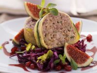 Zucchini-Wrapped Meatloaf with Red Cabbage Slaw recipe