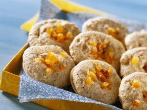 Almond Meringue Cookies with Candied Orange Peel recipe