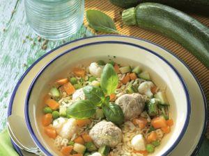Alphabet Soup with Vegetables and Dumplings recipe