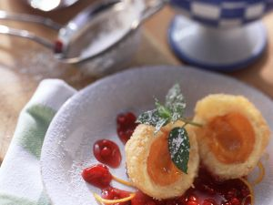 Apricot Dumplings with Berry Sauce recipe