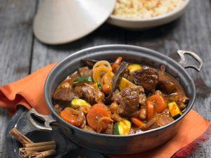 Arabic Lamb Stew with Carrots and Zucchini recipe