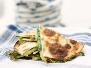 Arugula, Potato and Cheese Quesadillas recipe