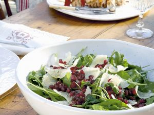Arugula Salad with Pomegranate and Parmesan recipe