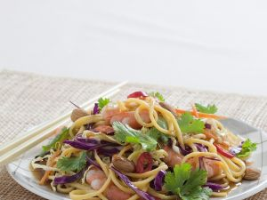 Asian Noodle Prawn Salad recipe