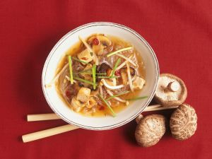 Asian Noodle Soup with Tofu recipe