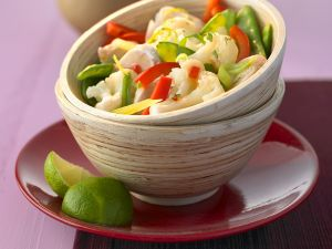 Asian-Style Vegetable and Chicken Salad recipe