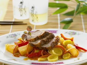 Asian-Style Vegetables with Roast Duck recipe