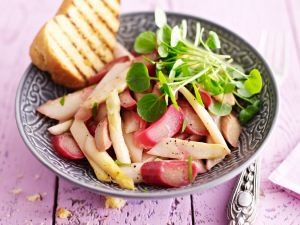 Asparagus and Rhubarb Salad recipe
