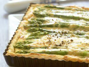 Soft Cheese and Asparagus Tart recipe
