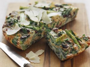 Asparagus Frittata with Smoked Trout recipe