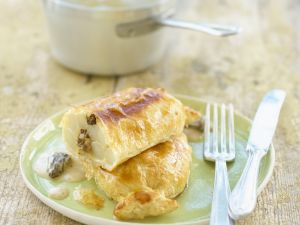 Asparagus in Puff Pastry with Morel Sauce recipe