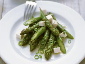 Asparagus Salad with Marinated Tofu recipe
