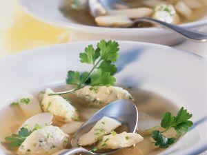 Asparagus Soup with Semolina Dumplings recipe