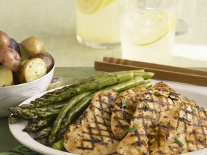 Asparagus with Griddled Chicken recipe