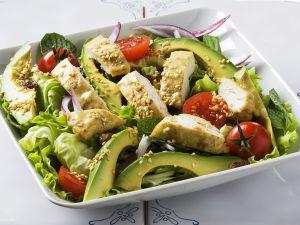 Avocado and Chicken Salad with Sesame Seeds recipe