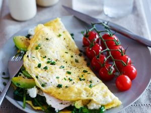 Avocado and Feta Omelet recipe