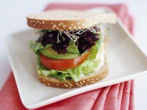 Avocado and Tomato Sandwiches recipe