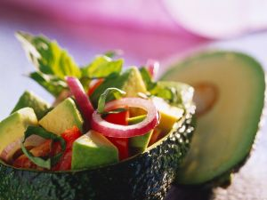 Avocado Salad with Tomatoes recipe