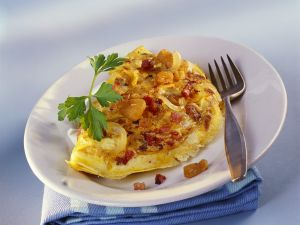 Bacon and Onion Omelet recipe