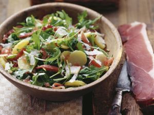 Bacon and Rocket Salad with New Potatoes recipe