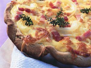Bacon, Onion and Cheese Quiche recipe