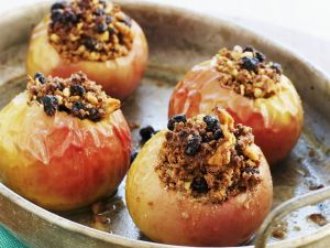 Baked Apples Stuffed with Marzipan and Walnuts recipe