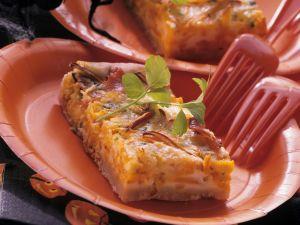 Baked Autumn Vegetable Quiche recipe