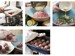 Baked Beef and Pepper Meatballs recipe