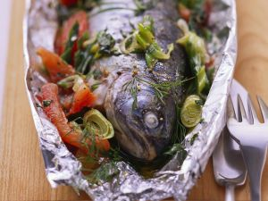 Baked Herb-Stuffed Trout recipe