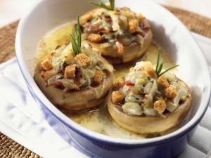 Baked Mushrooms with Filling recipe