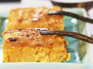 Baked Pumpkin Custard with Cheese recipe