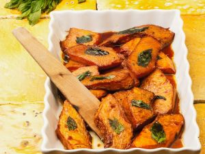 Baked Sweet and Sour Pumpkin recipe