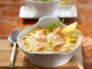 Baked Trout with Horseradish Cream Sauce recipe