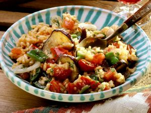 Baked Vegetables and Rice recipe