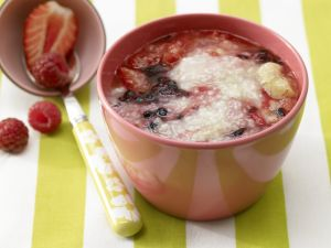 Banana-Berry Porridge with Millet recipe