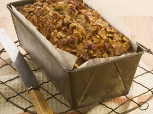 Banana Bread with Walnut Topping recipe