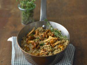 Barley and Mushroom Risotto recipe
