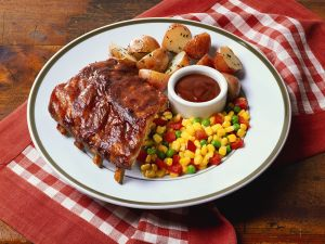 BBQ Ribs with Mixed Vegetables recipe