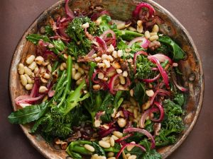 Bean and Broccoli Salad with Nuts recipe