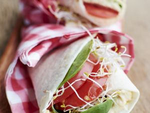 Bean Spread and Sprout Tortillas recipe