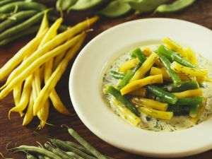 Beans with Creamy Herb Sauce recipe