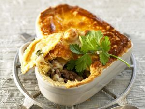 Beef and Cheese Pot Pies recipe