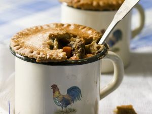 Beef and Vegetable Pies in Mugs recipe