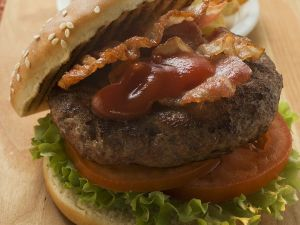 Beef Burgers with Bacon recipe