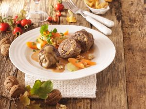 Beef Roulades with Mushroom Stuffing recipe