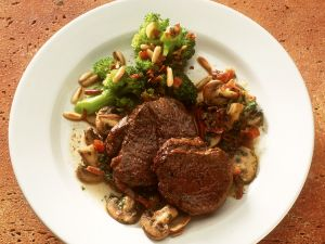 Beef Steaks with Vegetables recipe