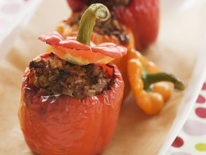 Beef-stuffed Peppers recipe
